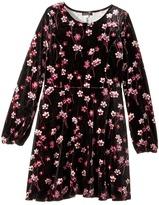 Ella Moss Priscilla Printed Velour Dress Girl's Dress