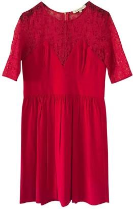 Sandro Red Viscose Dresses
