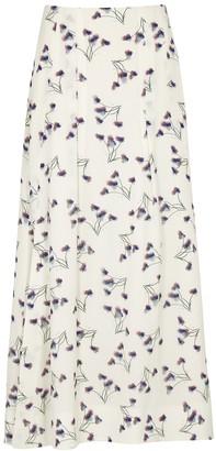 Roland Mouret Badby floral-print seersucker midi skirt