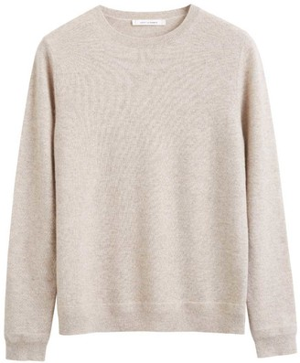 Chinti and Parker Oatmeal Cashmere Crew Sweater
