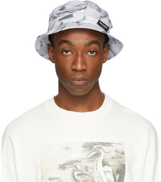 Heron Preston Grey Logo Bucket Hat