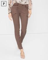 White House Black Market Petite Velveteen-Trim Skimmer Jeans