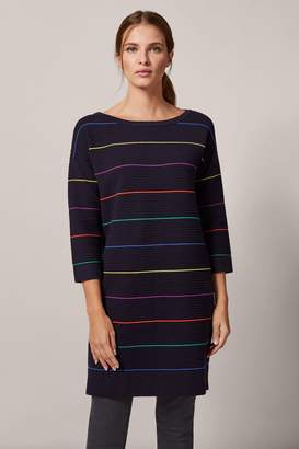 Phase Eight Womens Blue Savannah Stripe Ripple Dress - Blue