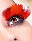 Baci Paradise Dreams Style No.605 Feather Eyelashes with Adhesive Included, Red by
