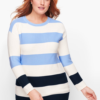 Talbots Button Detail Sweater - Stripe