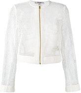 Diane von Furstenberg lace detail jacket - women - Polyester/Viscose/Wool - 8