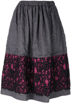 Comme des Garcons skirt with lace overlay