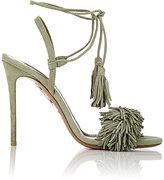Aquazzura Women's Wild Thing Sandals-DARK GREEN