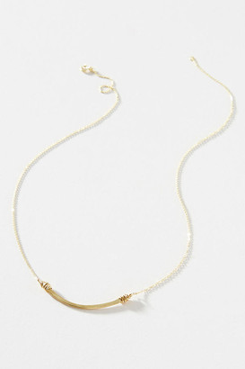 Nashelle Small Curve Necklace By in Gold