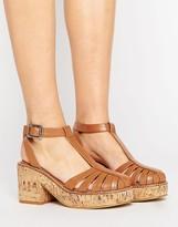 Asos OCKERBY Cork Platform Shoes