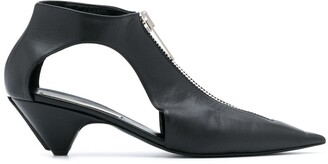 Stella McCartney Cut-Out Pointed-Toe Pumps
