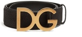 Dolce & Gabbana buckle grained-leather belt