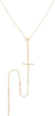 """Melinda Maria 20"""" Y Necklace with Crystal Cross Drop - Evangeline"""