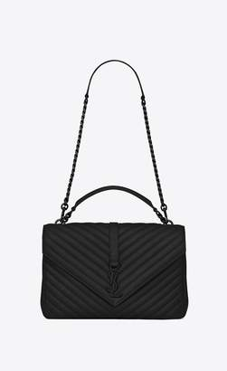 Saint Laurent College Large In Matelasse Leather