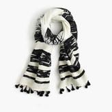 J.Crew Textured striped scarf