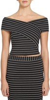 1 STATE 1.state Off-the-Shoulder Wrap-Front Top