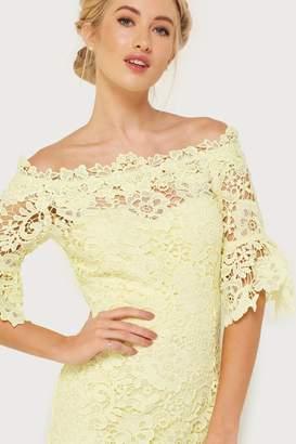 Paper Dolls Outlet Yellow Crochet Dress