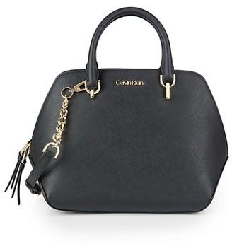Calvin Klein Split Leather Satchel