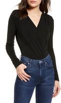 Chelsea28 Surplice Long Sleeve Bodysuit