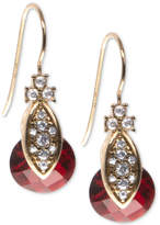 Marchesa Gold-Tone Pave & Colored Stone Drop Earrings