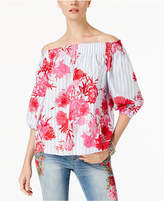 INC International Concepts I.N.C. Cotton Off-The-Shoulder Top, Created for Macy's