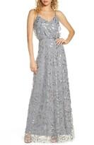 WAYF The Savannah Blouson Beaded Mesh Evening Dress