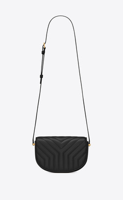 Saint Laurent Joan Small Satchel In Y-quilted Smooth Leather Black Onesize