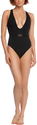 La Blanca Point Plunge Mio One-Piece