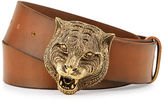Gucci Men's Leather Belt with Tiger Buckle