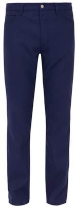 Maison Margiela Mid Rise Twill Trousers - Mens - Navy