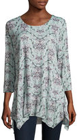 Style And Co. Printed Mesh Tunic
