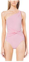 Michael Kors One-Shoulder Maillot Swimsuit
