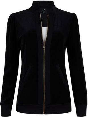 New York & Co. Velour Zip-Front Jacket