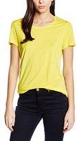 Le Temps Des Cerises Women's Plain Short Sleeve Vest - Yellow