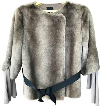 Pinko White Faux fur Coat for Women