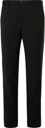 Giorgio Armani Slim-Fit Mulberry Silk Satin-Trimmed Virgin Wool Tuxedo Trousers