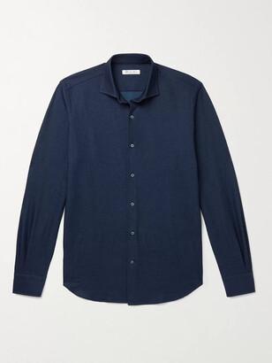 Loro Piana Slim-Fit Cutaway Collar Cotton-Pique Shirt