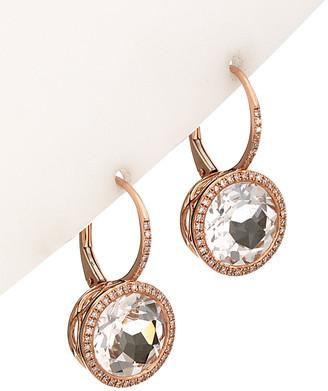 Diana M Fine Jewelry 14K 9.98 Ct. Tw. Diamond & White Topaz Earrings