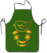 KITC APRONS KITC Gold Guava Juice Face White Funny Unisex BBQ Apron With Border