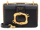 Prada Embellished leather shoulder bag