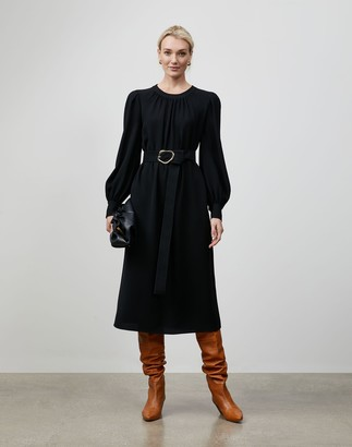Lafayette 148 New York Finesse Crepe Iver Dress