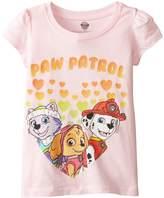 Nickelodeon Toddler Girls Paw Patrol Hearts Puff Slv Tee, Light Pink