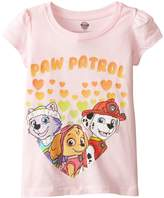 Nickelodeon Toddler Girls Paw Patrol Hearts Puff Slv Tee