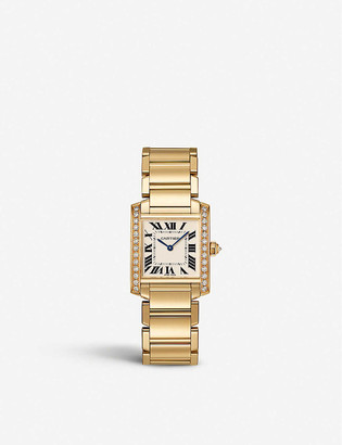Cartier Tank Francaise 18ct yellow-gold and diamond quartz watch