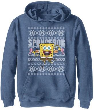 SpongeBob Squarepants Licensed Character Boys 8-20 Nickelodeon Dancing Ugly Christmas Hoodie