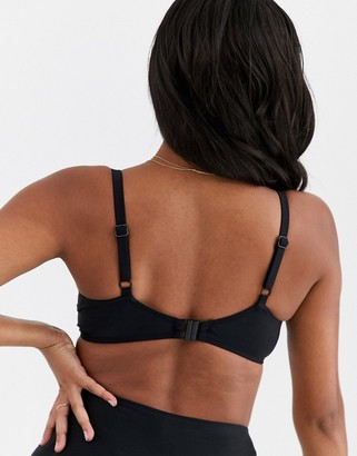 Pour Moi? Pour Moi Fuller Bust Free Spirit padded underwired bikini top in black