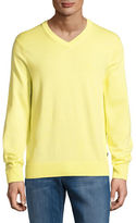 Nautica Cotton-Blend V-Neck Sweater