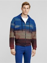 Calvin Klein Collection Sky Grid Print Performance Jersey Zip Hoodie