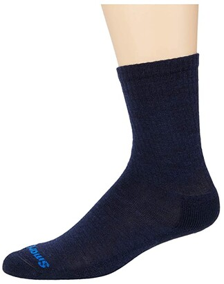 Smartwool Heathered Rib Crew 2-Pack (Deep Navy Heather) Men's Crew Cut Socks Shoes