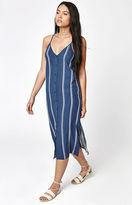 La Hearts Button Front Midi Dress